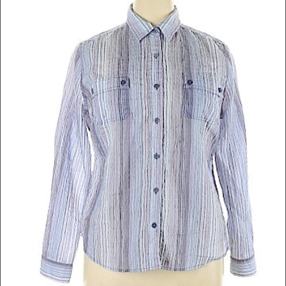 80s tan sheer pinstripe blouse medium beige striped button down shirt jaeger nude minimalist collared blouse minimal striped shirt
